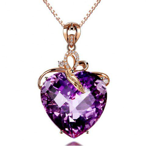 Hot Gold Colored Gem Natural Amethyst Necklace