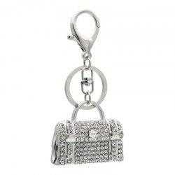 Creative Handbag Style Decoration Rhinestone Key Chain -