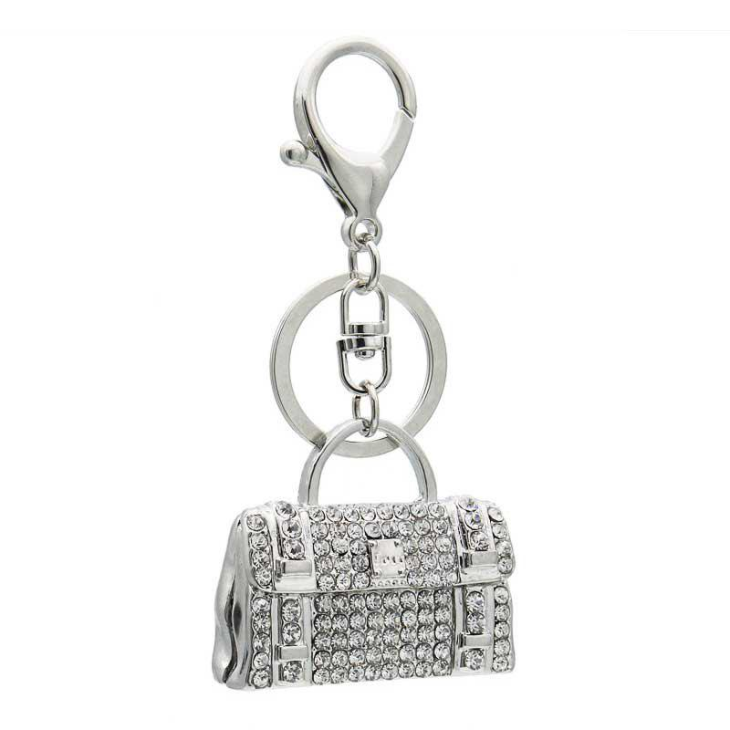 Affordable Creative Handbag Style Decoration Rhinestone Key Chain