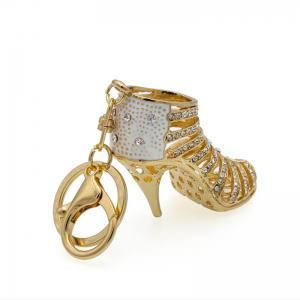 Creative High-heeled Shoes Style Decoration Rhinestone Key Chain -