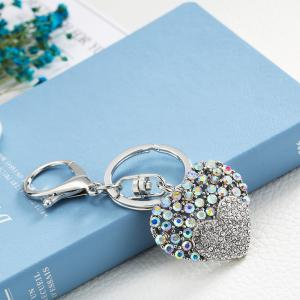 Творческий Heart-shaped Украшение Rhinestone Key Chain -