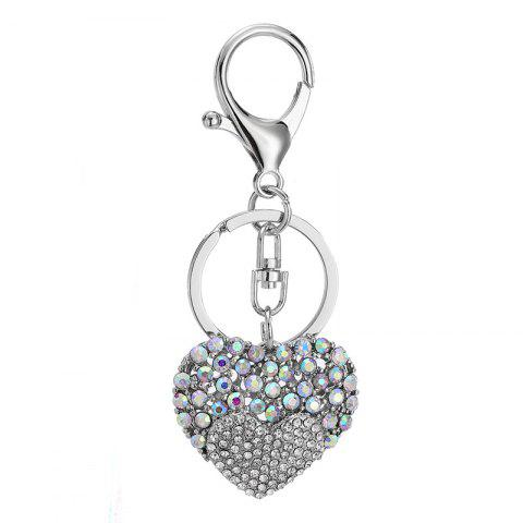 Творческий Heart-shaped Украшение Rhinestone Key Chain