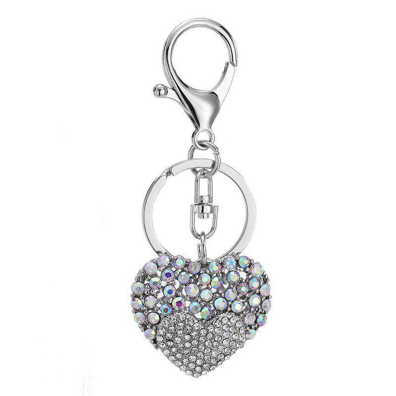Online Creative Heart-shaped Decoration Rhinestone Key Chain