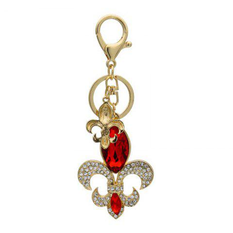 Online Creative Flower Shape Decoration Rhinestone Key Chain