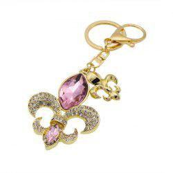 Креативная цветочная форма украшения Rhinestone Key Chain -