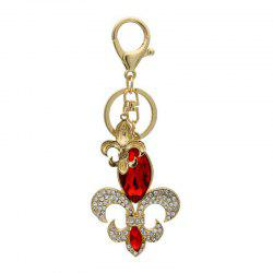 Creative Flower Shape Decoration Rhinestone Key Chain -