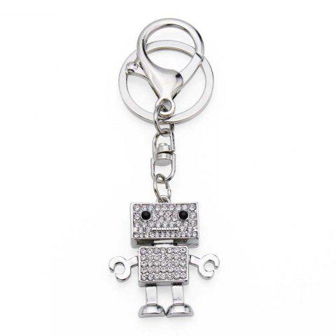 Online Creative Robot Shape Decoration Rhinestone Key Chain