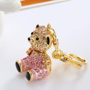 Творческий милый медведь Форма украшения Rhinestone Key Chain -