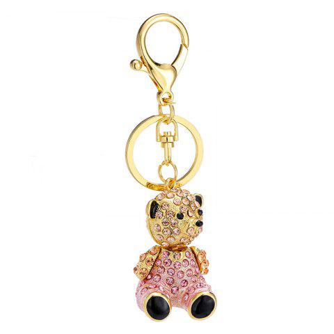 Творческий милый медведь Форма украшения Rhinestone Key Chain