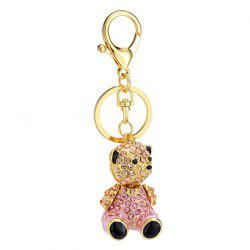 Creative Cute Bear Shape Decoration Rhinestone Key Chain -
