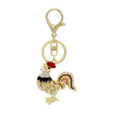 Latest Creative Cock Shape Decoration Rhinestone Key Chain