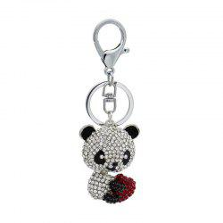 Creative Lovely Bear Shape Decoration Rhinestone Key Chain -