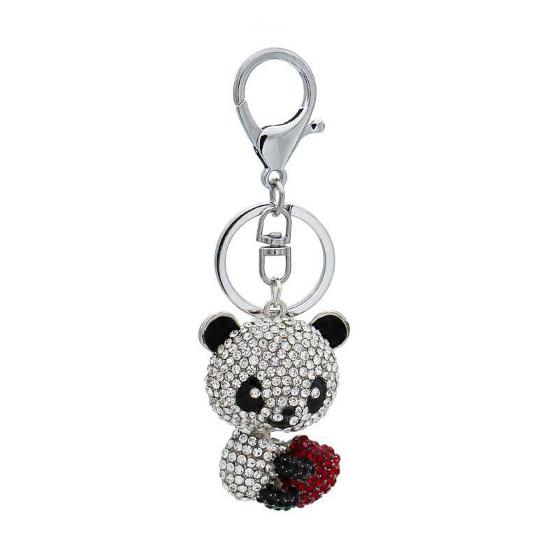 New Creative Lovely Bear Shape Decoration Rhinestone Key Chain