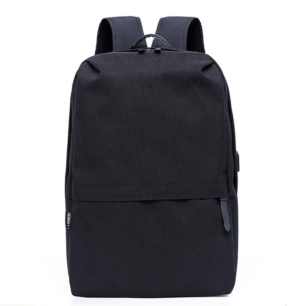 Hot Canvas Large-Capacity Fashion Wild Simple Color Travel Male Travel Backpack