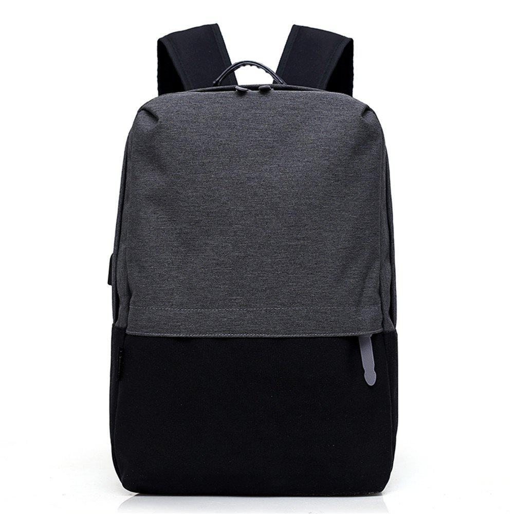 Fashion Canvas Large-Capacity Fashion Wild Simple Color Travel Male Travel Backpack