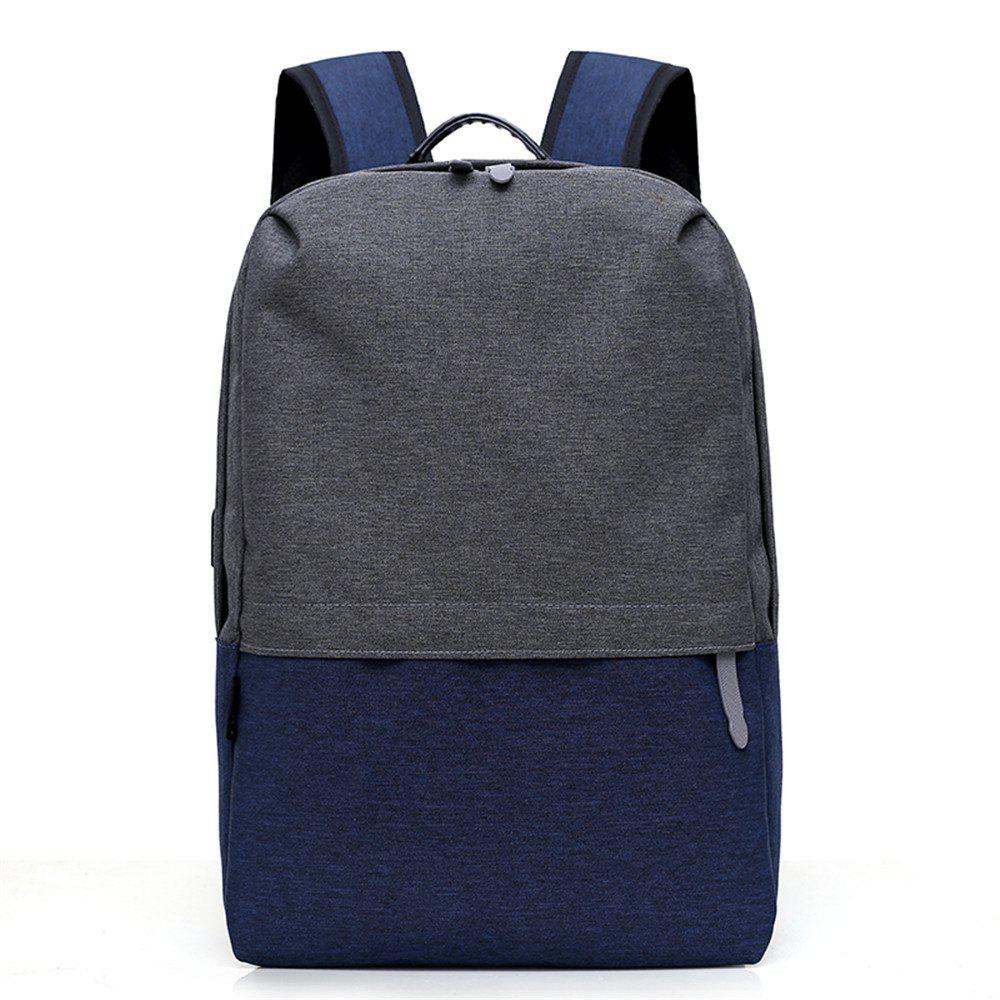 New Canvas Large-Capacity Fashion Wild Simple Color Travel Male Travel Backpack