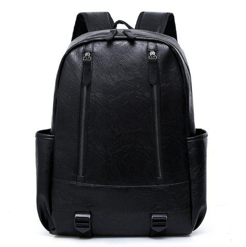 Outfits PU Fashion Large Capacity Simple Simple Color Travel Men'S Backpack