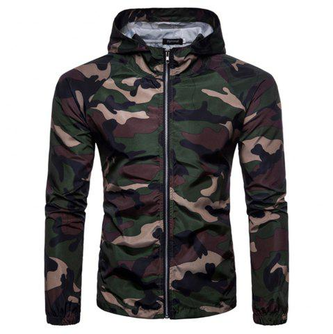 Fashion 2018 New Spring and Summer Men's Camouflage Hooded Sunscreen Casual Jacket