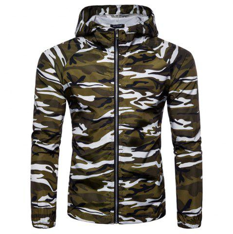 Best 2018 New Spring and Summer Men's Camouflage Hooded Sunscreen Casual Jacket