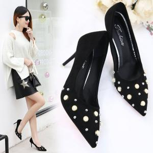 Printemps New Pointed High Heels chaussures simples confortables -