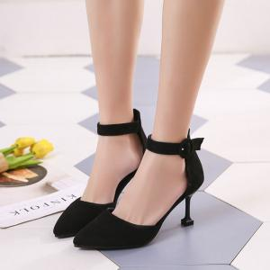 Spring New Pointed High Heel Suede Hollow Shoes -