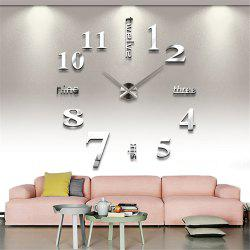 DIY Creative Fashion Watch Silent Wall Stickers -