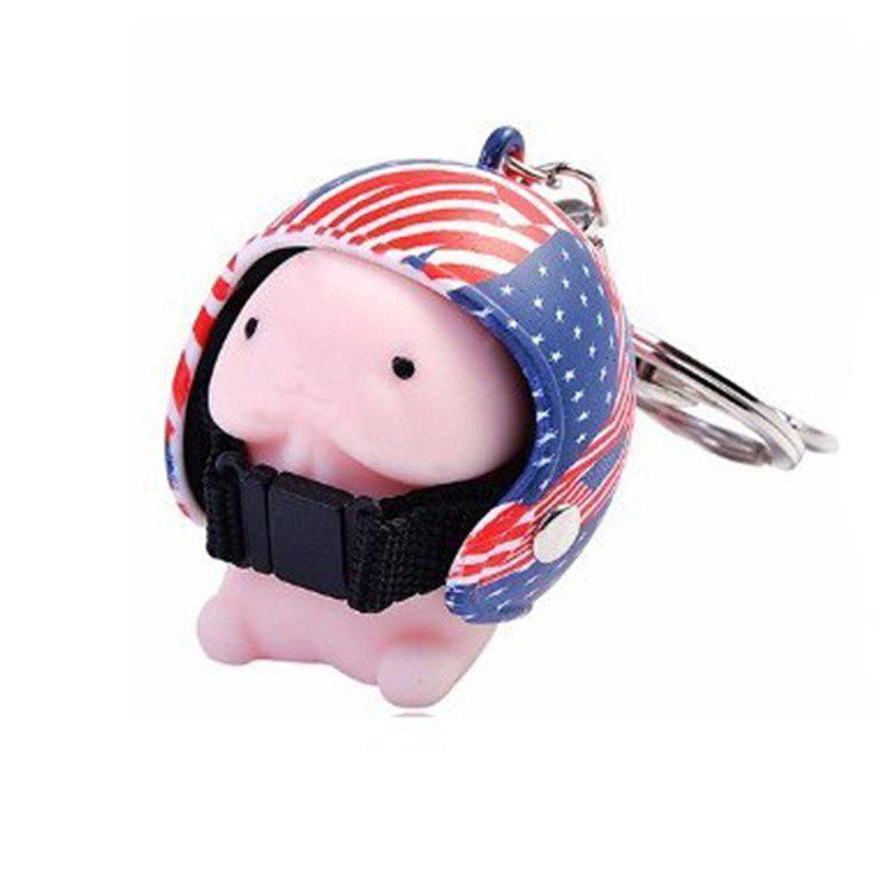 Chic Jumbo Squishy Cartoon Boy with Helmet Cute Keychain Squeeze Stress Reliever Toy