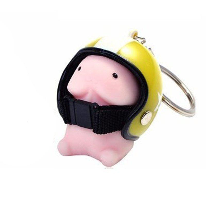 Hot Jumbo Squishy Cartoon Boy with Helmet Cute Keychain Squeeze Stress Reliever Toy