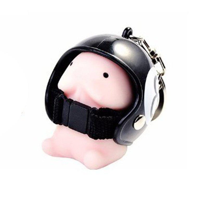 Shops Jumbo Squishy Cartoon Boy with Helmet Cute Keychain Squeeze Stress Reliever Toy