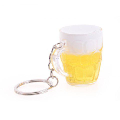 Hot Beer Mug Shaped Metal Key Chain