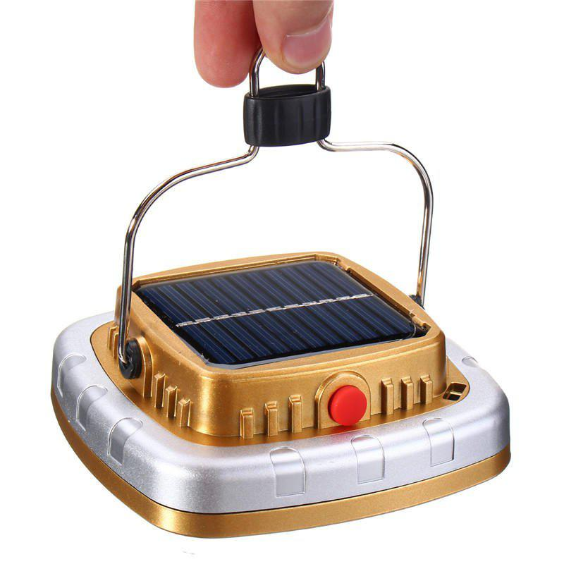 Best New Portable 3W 300LM COB LED Solar Lantern USB Rechargeable Camping Tent Light Emergency Lamp
