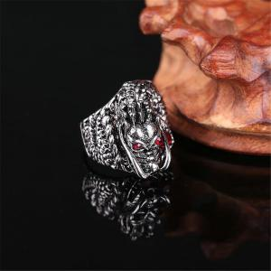 Titanium Steel Fashion Personnalité Dragon Ruby Ring Hommes -