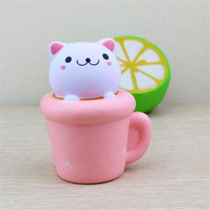 PU Slow Rebound Toy Simulation Jumbo Squishy Cup Cat Soft Aroma Modeling Children Toys 1PC -