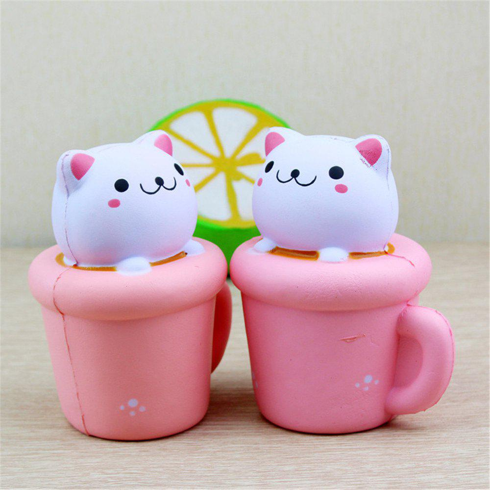 Online PU Slow Rebound Toy Simulation Jumbo Squishy Cup Cat Soft Aroma Modeling Children Toys 1PC