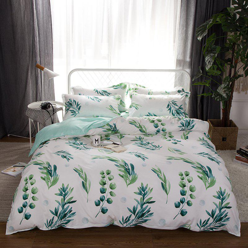 Online South Cloud 4 Pcs Bedclothes Set Fresh Style Leaves Pattern Soft Bed Sheet Set