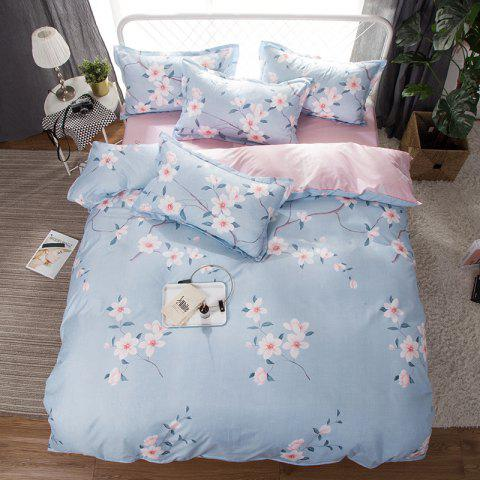 South Cloud 4 Pcs Bedclothes Fresh Flower Pattern Ensemble de draps souples
