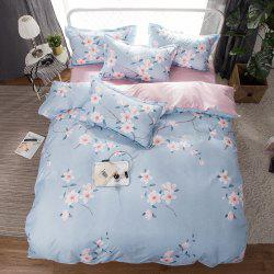 South Cloud 4 Pcs Bedclothes Fresh Flower Pattern Ensemble de draps souples -