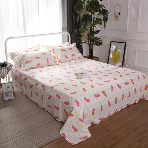 South Cloud 4 Pcs Bedsheet Set Lovely Style Cartoon Carrot Pattern Comfy Bedding Sets -