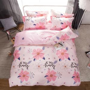 South Cloud 4 Pcs ensemble de draps Sweet Style Flower Pattern confortable ensembles de literie -
