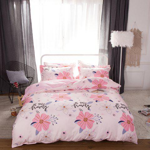South Cloud 4 Pcs ensemble de draps Sweet Style Flower Pattern confortable ensembles de literie