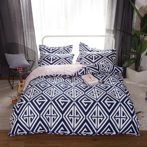 New South Cloud 4 Pcs Bedclothes Set Modern Creative Geometric Pattern Soft Bed Sheet Sets