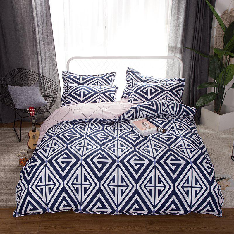 Buy South Cloud 4 Pcs Bedclothes Set Modern Creative Geometric Pattern Soft Bed Sheet Sets