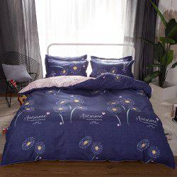 South Cloud 4 Pcs Duvet Cover Set Modern Creative Flower Pattern Comfy Sheet Sets -