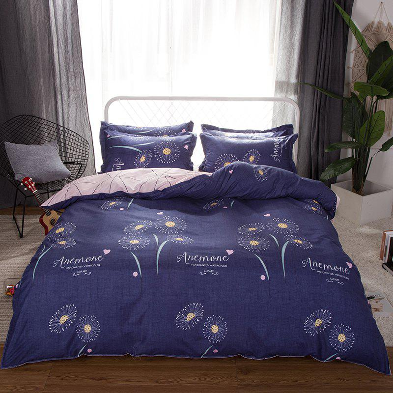 Outfit South Cloud 4 Pcs Duvet Cover Set Modern Creative Flower Pattern Comfy Sheet Sets