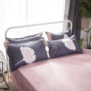 South Cloud 4 Pcs Housse de Couette Ensemble Ginkgo Feuilles Motif Comfy Ductile Ensembles de Literie -