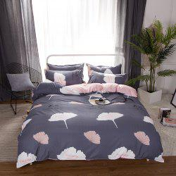 South Cloud 4 Pcs Duvet Cover Set Ginkgo Leaves Pattern Comfy Ductile Bedding Sets -