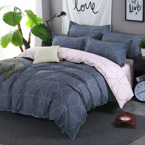 Chic South Cloud 4 Pcs Bedding Cover Set Simple Solid Geometric Pattern