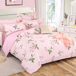 Ensemble de literie South Cloud 4 Pcs Ensemble de draps Comfy Charming Flower -