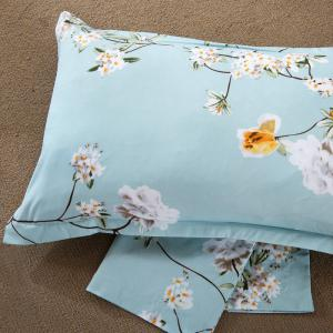 South Cloud 4 Pcs Literie Set Frais Floral moderne à thème Voguish ensemble de draps -