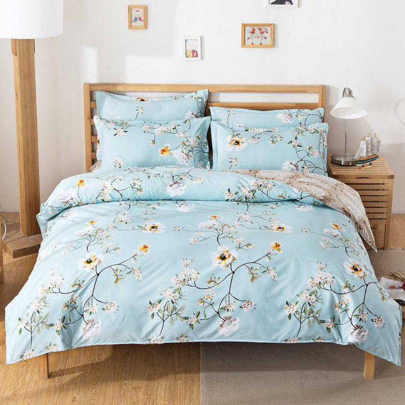 Hot South Cloud 4 Pcs Bedding Cover Set Fresh Modern Floral Themed Voguish Bedsheet Sets